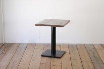 無垢材 カフェテーブル 古材 ヴィンテージ アイアン脚 店舗什器 ダイニング デスク インダストリアル A3