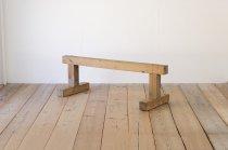 レトロ 平均台 無垢材 木製 ヴィンテージ ディスプレイ ガーデニング 2