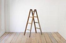レトロ 脚立 楢無垢材 木製 ヴィンテージ ディスプレイ 4段