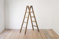 レトロ 脚立 楢無垢材 木製 ヴィンテージ ディスプレイ 5段