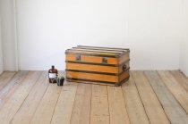 船舶トランク 木製 無垢材 ボックス ヴィンテージ 収納 レトロ