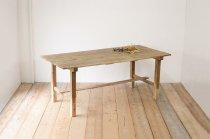 無垢材 作業台 展示台 陳列 ダイニングテーブル 什器 古材 ヴィンテージ レトロ ナチュラル