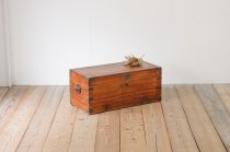 無垢材 木製 トランク 船舶 ヴィンテージ レトロ ブランケットボックス 宝箱