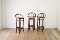 在庫5脚 カウンターチェア ダイニング ハイ バー 椅子 曲木 ベントウッド ブナ材 レトロ ヴィンテージ 木製 1