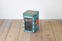 レトロ 駄菓子 缶 ケース 窓付き 乳菓 メリーランド 一斗缶 ヴィンテージ ノベルティー 看板 什器 収納