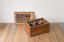 レトロ 看板 リメイク 木箱 ボックス BOX 収納 無垢材