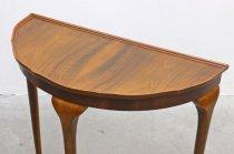 英国 イギリス ウォールナット ハーフムーン コンソール テーブル 展示台 飾り台 ヴィンテージ アンティーク