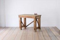 ヴィンテージ 作業台 デスク 無垢材 レトロ サイドテーブル コンソール 飾り台 陳列棚