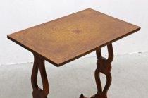 ヴィンテージ クラシカル 本革 レザートップ サイドテーブル 花台 飾り台 展示台