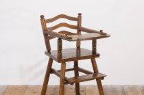 レトロ ベビーハイチェア チャイルド キッズ 幼児 子供椅子 ダイニング 無垢材 木製 カントリー