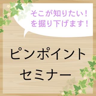 ピンポイントセミナー【入門者さん向け!ピーキャット流資材の使い方解説セミナー】