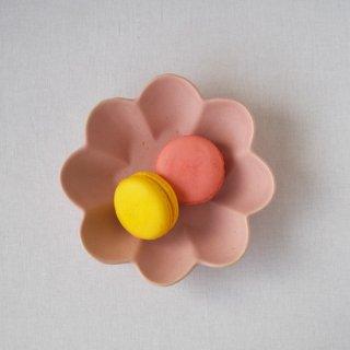マカロンピンク・花の皿-s-