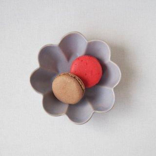 マカロンラベンダー・花の皿-s-