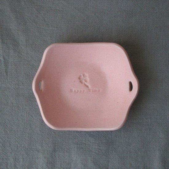 マカロンピンク・手付き角皿
