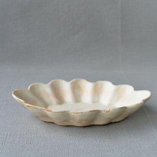 粉福花楕円皿-l-