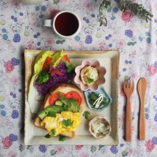 粉福角皿-ワンプレート-