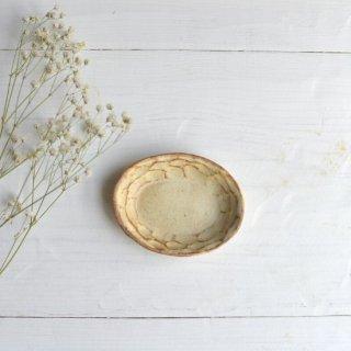 粉福楕円皿-豆-