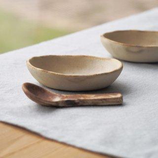 粉福豆小皿-楕円-