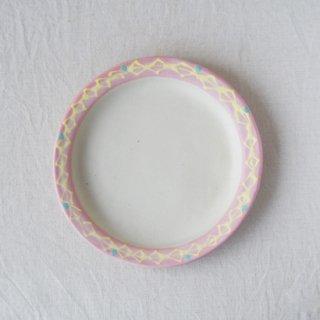 いっちん丸リム皿-ピンク-