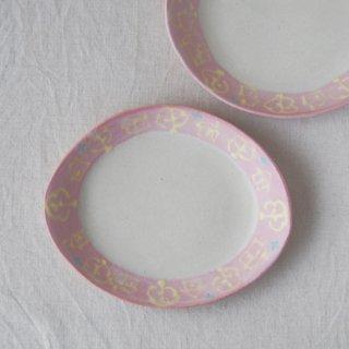 いっちん楕円皿-ピンク-