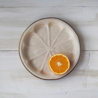 zakka・オレンジ皿-アイボリー