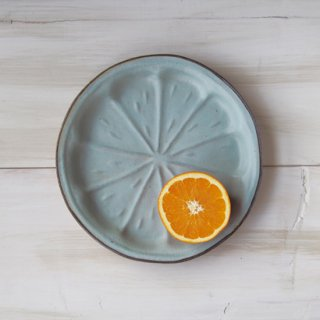 zakka・オレンジ皿-ブルー