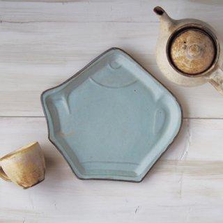 zakka・ティーポット皿-ブルー