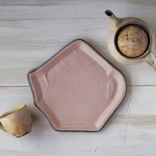 zakka・ティーポット皿-ピンク