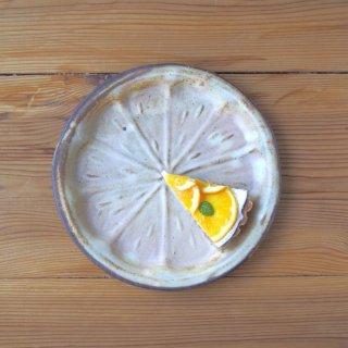 粉福オレンジ皿