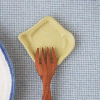 マカロンイエロー・豆小皿ティーポット