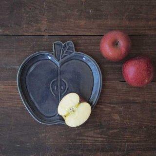 瑠璃釉りんご皿
