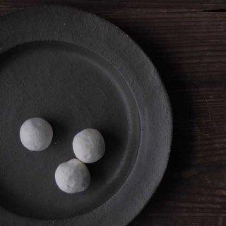 オリーブグリーン・丸リム皿