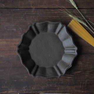 オリーブグリーン・六角ロココ皿