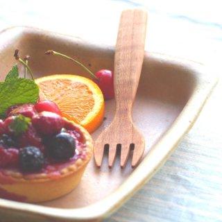 桜の木のデザートフォーク