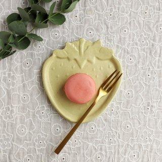 マカロンイエロー・いちご皿