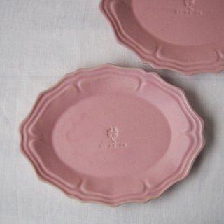 マカロンピンク・グレース楕円皿