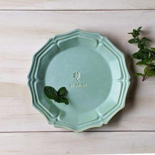 マカロンミントグリーン・グレース丸皿