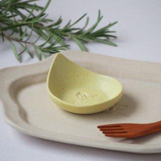 マカロンイエロ−・しずく豆小皿
