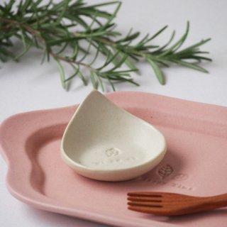 マカロンミルキーホワイト・しずく豆小皿