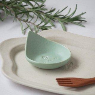 マカロンミントグリーン・しずく豆小皿