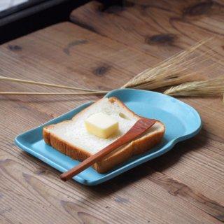 マカロンブルー・食パン皿(M)