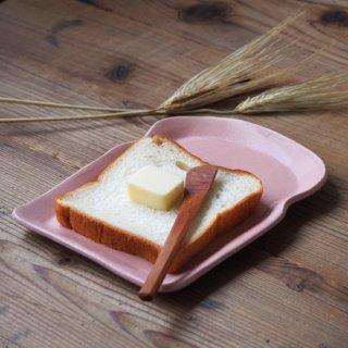 マカロンピンク・食パン皿(M)