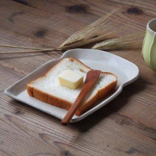マカロンミルキーホワイト・食パン皿(M)