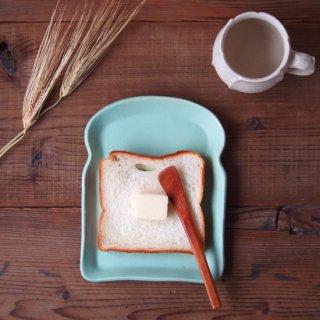 マカロンミントグリーン・食パン皿(M)