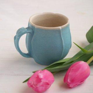 マカロンブルー・マグカップ-tulip-