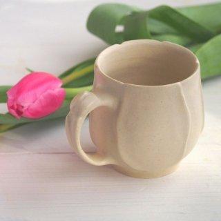 マカロンミルキーホワイト・マグカップ-tulip-