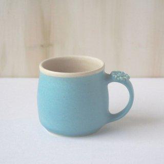 マカロンブルー・マグカップ-gerbera-