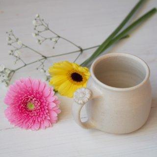 マカロンミルキーホワイト・マグカップ-gerbera-