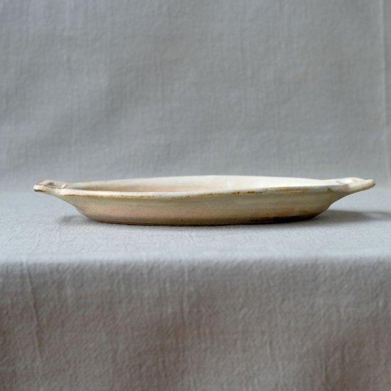 粉福ハンドル楕円皿