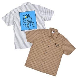 絵画 Stripe Short Sleeve Shirt